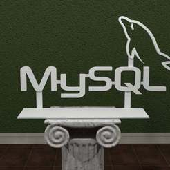 MySQL-Logo.jpg Download free STL file MySQL Logo • 3D printer template, AwesomeA