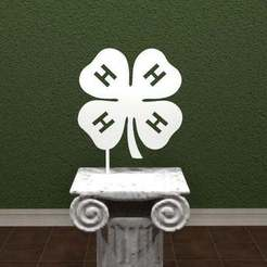 Download free 3D model 4-H Logo, AwesomeA