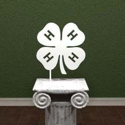 4h.jpg Download free STL file 4-H Logo • 3D printing model, AwesomeA