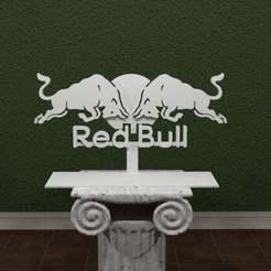 Descargar archivos STL gratis Logotipo de Red Bull, AwesomeA