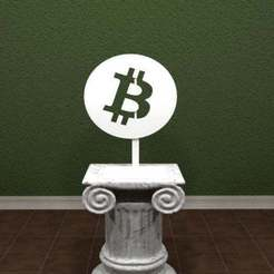 Bitcoin.jpg Download free STL file Bitcoin Logo • 3D print design, AwesomeA