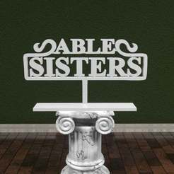 Download free STL file Animal Crossing - Able Sisters Logo • 3D printer model, AwesomeA
