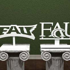 Download free 3D model Florida Atlantic University Logo, AwesomeA