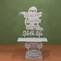 Sloth-slow.jpg Télécharger fichier STL gratuit La vie de paresseux • Plan imprimable en 3D, AwesomeA
