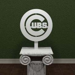 Download free 3D printer files Cubs Logo, AwesomeA