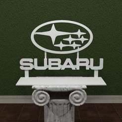 Descargar Modelos 3D para imprimir gratis Logotipo de Subaru, AwesomeA