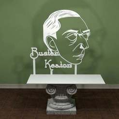 Download free 3D print files Buster Keaton Art., AwesomeA