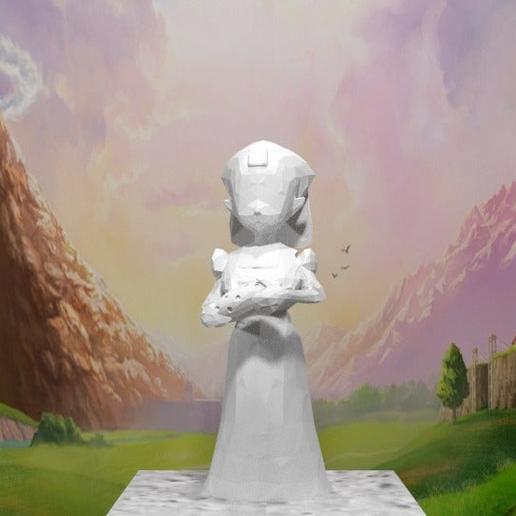 Download free STL files Legend of Zelda - Zelda holding Ocarina, AwesomeA