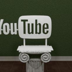 Youtube-Logo.png Télécharger fichier STL gratuit YouTube Logo • Objet imprimable en 3D, AwesomeA