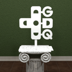 GDQ-Logo.png Download free STL file Games Done Quick Logo • Design to 3D print, AwesomeA