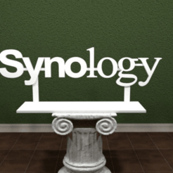 Download free 3D printing designs Synology Logo, AwesomeA