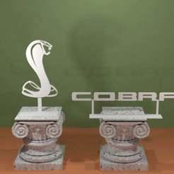 Descargar archivos STL gratis Logotipo de Ford Cobra, AwesomeA