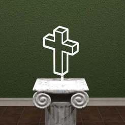 3D-Cross.jpg Télécharger fichier STL gratuit Croix 3D • Objet pour impression 3D, AwesomeA