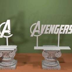 Avengers.jpg Download free STL file Marvel Avengers Logo • 3D printing design, AwesomeA