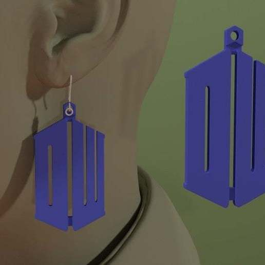 Download free 3D printing designs Dr. Who Earring - DW initials, AwesomeA