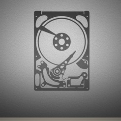 HDDart.jpg Télécharger fichier STL Art mural sur disque dur. • Design imprimable en 3D, AwesomeA