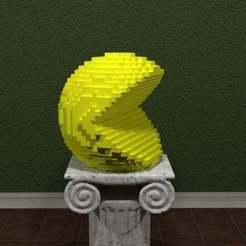 Pac-Man.jpg Télécharger fichier STL gratuit Pixels Pac-Man • Modèle imprimable en 3D, AwesomeA