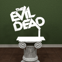 evildead.png Download free STL file The Evil Dead Logo • 3D printing template, AwesomeA
