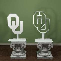 Oklahoma_University_logo.jpg Download free STL file Oklahoma University Logo • 3D printing design, AwesomeA