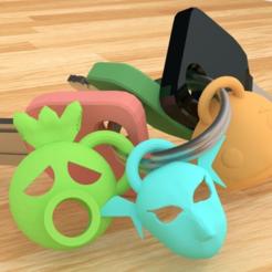 0001.png Download free STL file Legend of Zelda: Mask Keychain. • 3D print model, AwesomeA