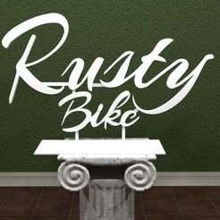 Download free 3D printer designs Rusty Bike Logo, AwesomeA