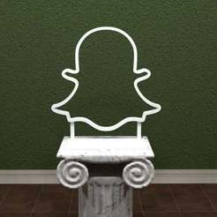 SnapChat-Logo.jpg Download free STL file SnapChat Logo • Object to 3D print, AwesomeA