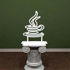 Java-Cup-001.jpg Download free STL file Java -  Cup Logo. • 3D printing model, AwesomeA