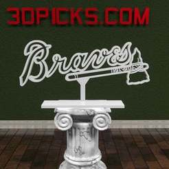 Download free 3D printer designs Atlanta Braves Logo, AwesomeA