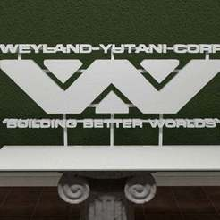 was-logo.jpg Download free STL file Weyland Alien Series Logo • Design to 3D print, AwesomeA