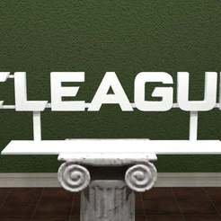Download free 3D printer model E-LEAGUE Logo, AwesomeA