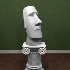 Imprimir en 3D gratis Estatua de Moai - Animal Crossing New Horizons!, AwesomeA