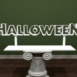 Download free 3D printer model Halloween Logo, AwesomeA
