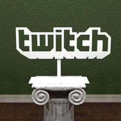 Download free 3D printing templates Twitch Logo, AwesomeA