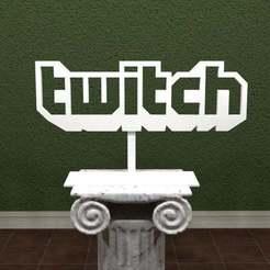 Twitch-Logo.jpg Download free STL file Twitch Logo • 3D print model, AwesomeA