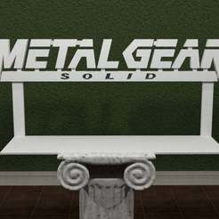 Metal_Gear_Solid-1-Logo.jpg Download free STL file Metal Gear Solid Logo • 3D printer design, AwesomeA