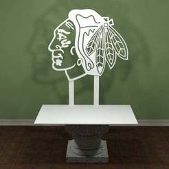 Descargar archivos 3D gratis Logotipo de los Chicago Blackhawks, AwesomeA