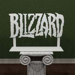 Blizzard.jpg Télécharger fichier STL gratuit Logo Blizzard • Modèle à imprimer en 3D, AwesomeA