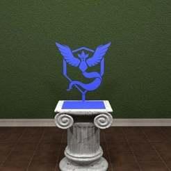 Download free STL files Pokemon GO - Team Mystic Logo, AwesomeA