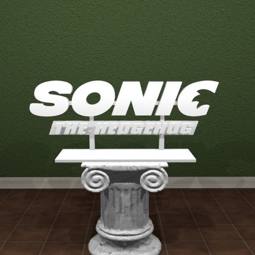 Download Free 3d Print Files Sonic The Hedgehog Movie Logo Cults