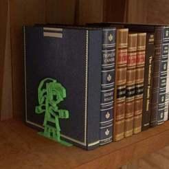Link-Between-Worlds-Book-Stand-Link.jpg Télécharger fichier STL gratuit La légende de Zelda : un lien entre les mondes - Serre-livres • Objet imprimable en 3D, AwesomeA