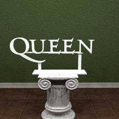 Download free 3D printer designs Queen Logo., AwesomeA