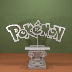 Descargar archivo 3D gratis Logotipo de Pokemon, AwesomeA
