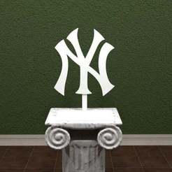 Download free 3D printer files New York Yankees Logo, AwesomeA
