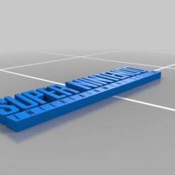 Impresiones 3D gratis SNES - Logotipo, AwesomeA