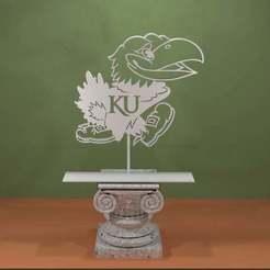 Descargar diseños 3D gratis Logotipo de los Kansas Jayhawks, AwesomeA