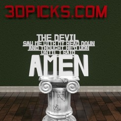 Amen.jpg Download STL file Amen Sign! • 3D printer template, AwesomeA