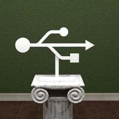 USB.jpg Download free STL file USB Trident Logo • Design to 3D print, AwesomeA