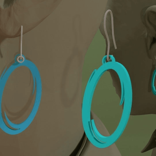 Download free 3D printing files Portal Earring, AwesomeA