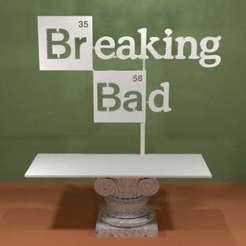 breaking_bad_logo.jpg Télécharger fichier STL gratuit Briser le mauvais logo • Objet à imprimer en 3D, AwesomeA