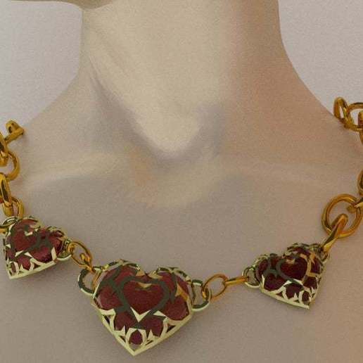 Download free 3D printing files The Legend of Zelda - Heart Necklace., AwesomeA